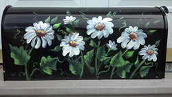 hand painted mailbox designs. Daisies Mailbox \ Hand Painted Designs B